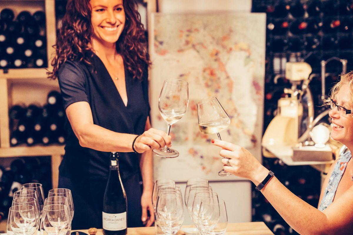 rimessa roscioli wine tasting toast in cellar